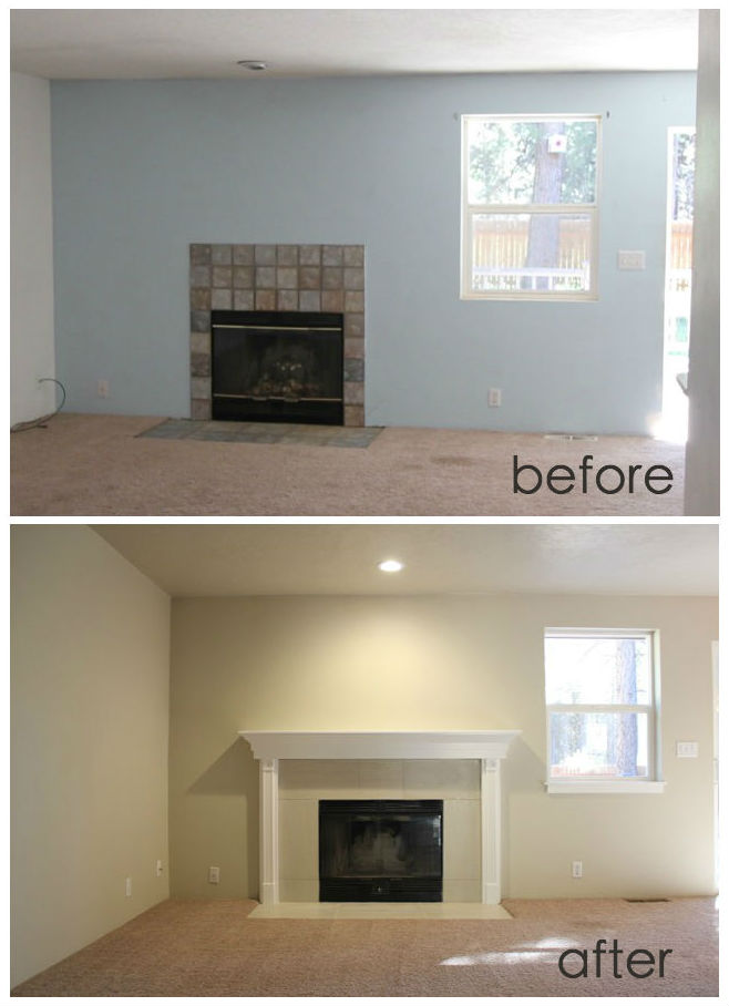 Quartz Hearth Before and After