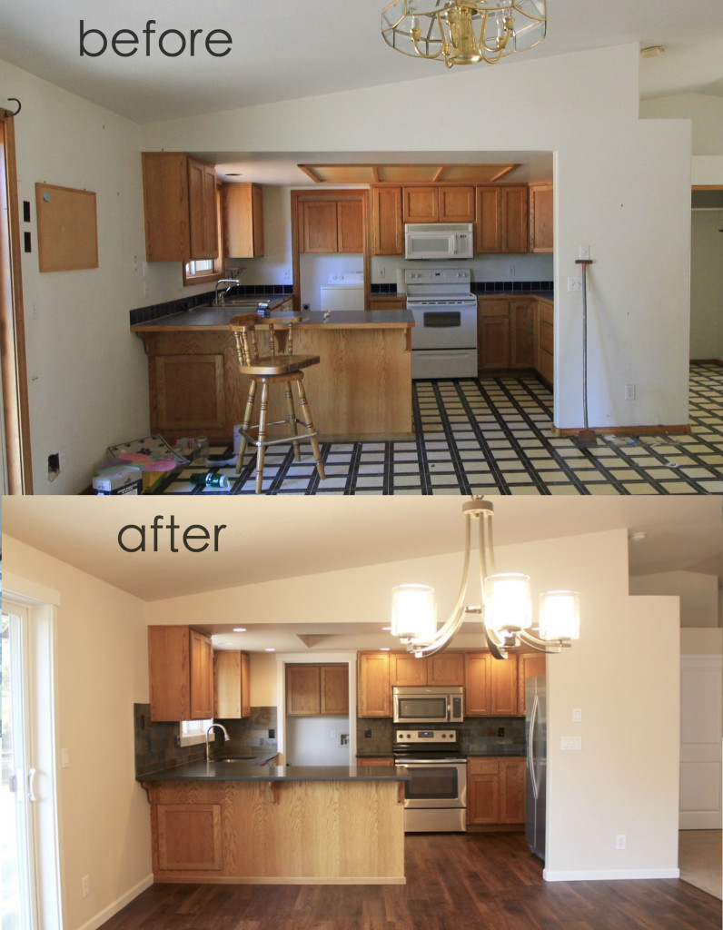 011 before and after kitchen