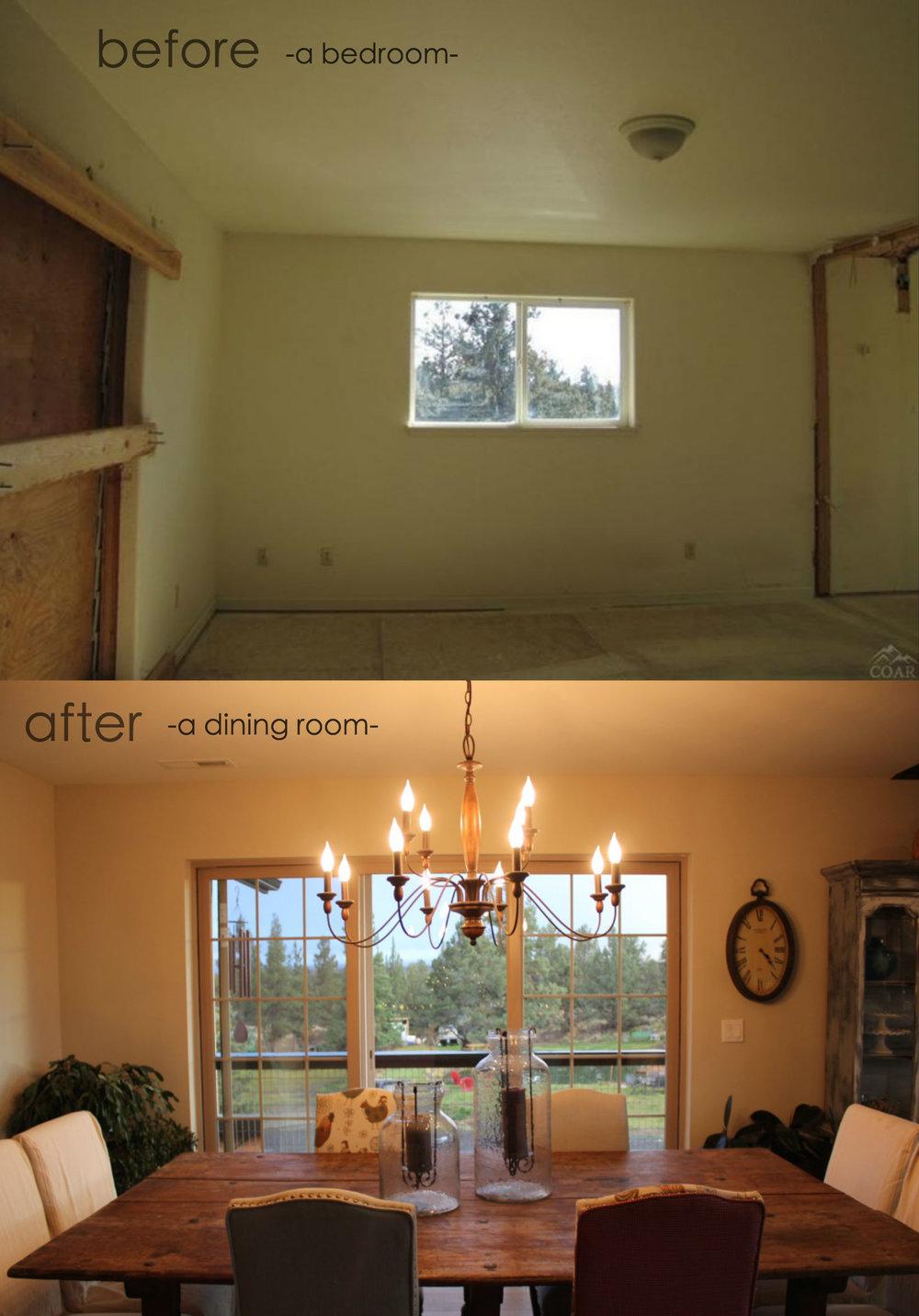 Bear Creek Bedroom into Dining
