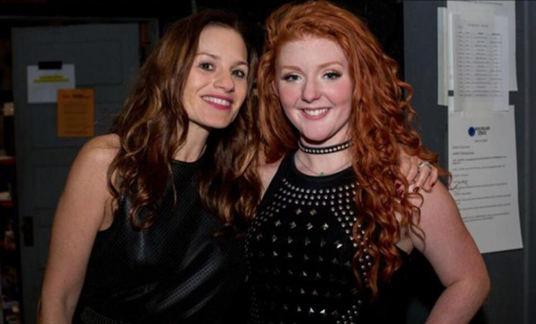 Kara DioGuardi (left) with Lexi James, winner of New England Sings vocal competition. Photo Credit: Jukebooth, Boston Globe 2017