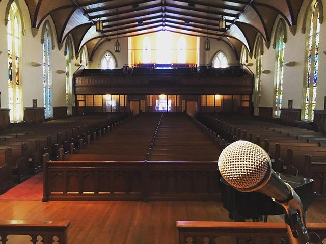 I'm just a few hours this stage will take its first performer for the 20th year of Bach Around the Clock at Trinity Episcopal Church Friday 7PM to Sunday 12AM. My doc about this wonderful event will screen for the first time ever tonight at 11:30PM. You should miss it!