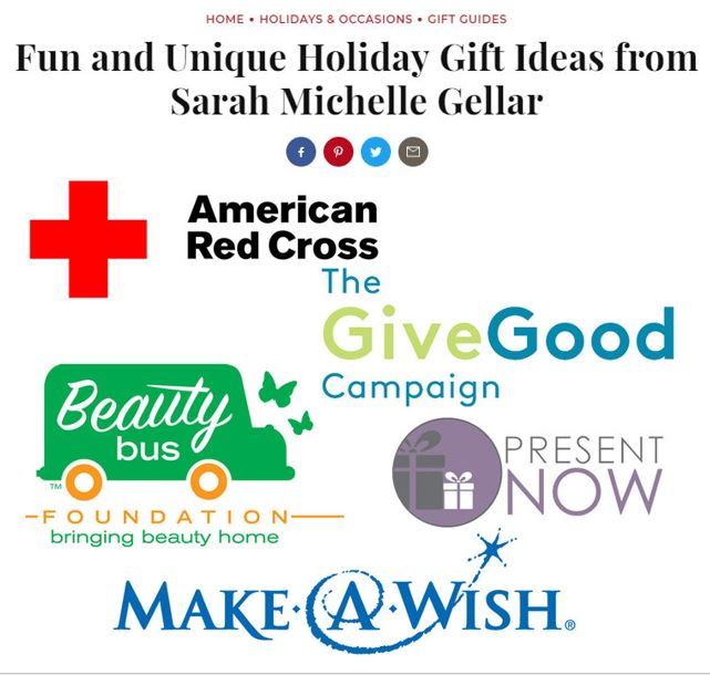 December 6, 2017 - Mentioned as one of Sarah Michelle Gellar's Fun & Unique Holiday Gift Ideas in InStyle Magazine. Look for Beauty Bus in #8 on the list!Read Article >>