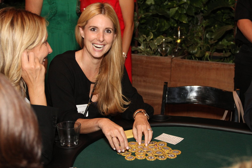 Laurie H with her chips.JPG