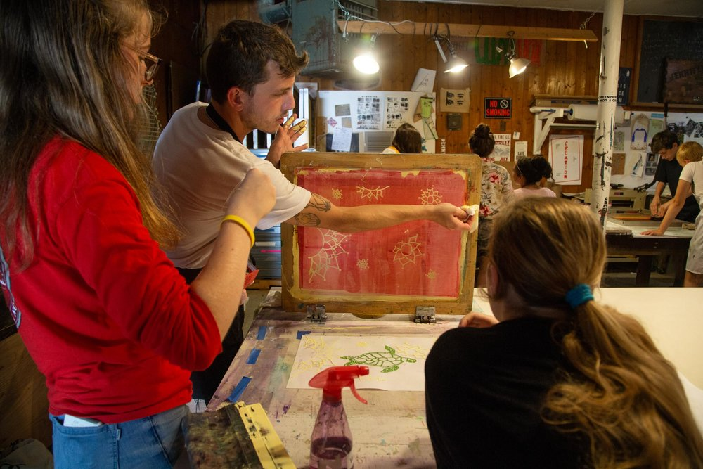 Teen Screenprinting Camp - Summer Arts Program for Students Ages 13–18