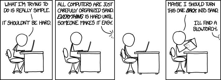 We've all been there, but only xkcd had the courage to write it down.  The hero we need.