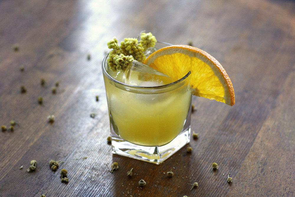 Chamomile Honeysuckle Whiskey Sour