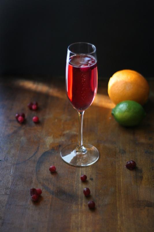 Simple Cranberry Mimosas - Christmas Mimosas