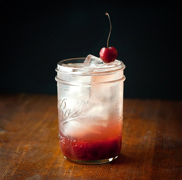 Black Cherry Vanilla Shrub & Whiskey