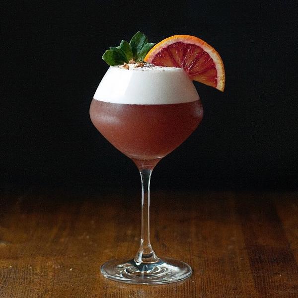 Tea + Berries - A Blood Orange, Elderflower and Honeybush Tea Cocktail