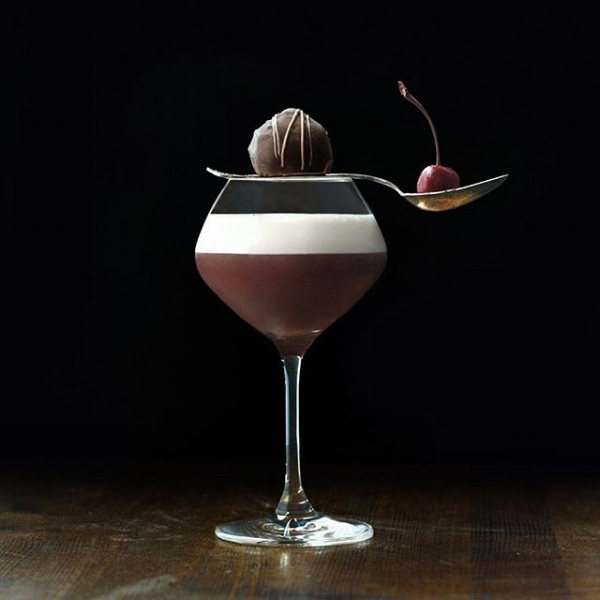 Sonnet 29 - an espresso, cocoa butter washed bourbon cocktail