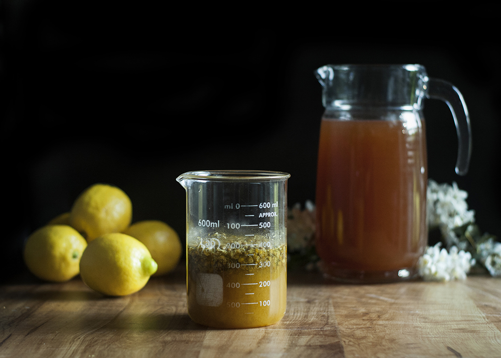 Chamomile + Bee Pollen Cocktail Syrup