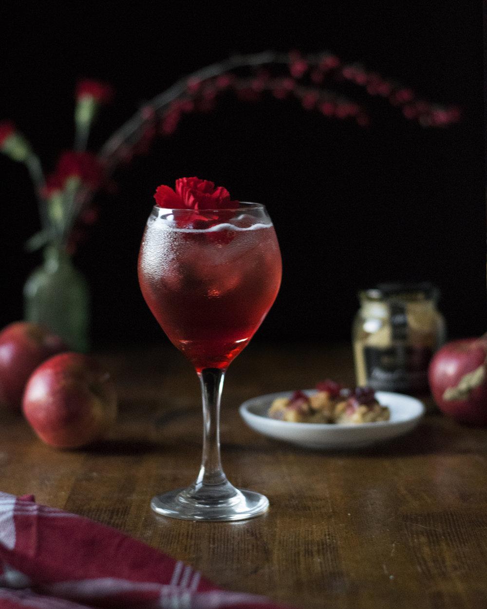 campari cranberry spritzes