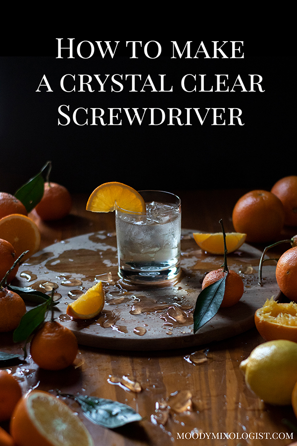 how to make a milk clarified screwdriver
