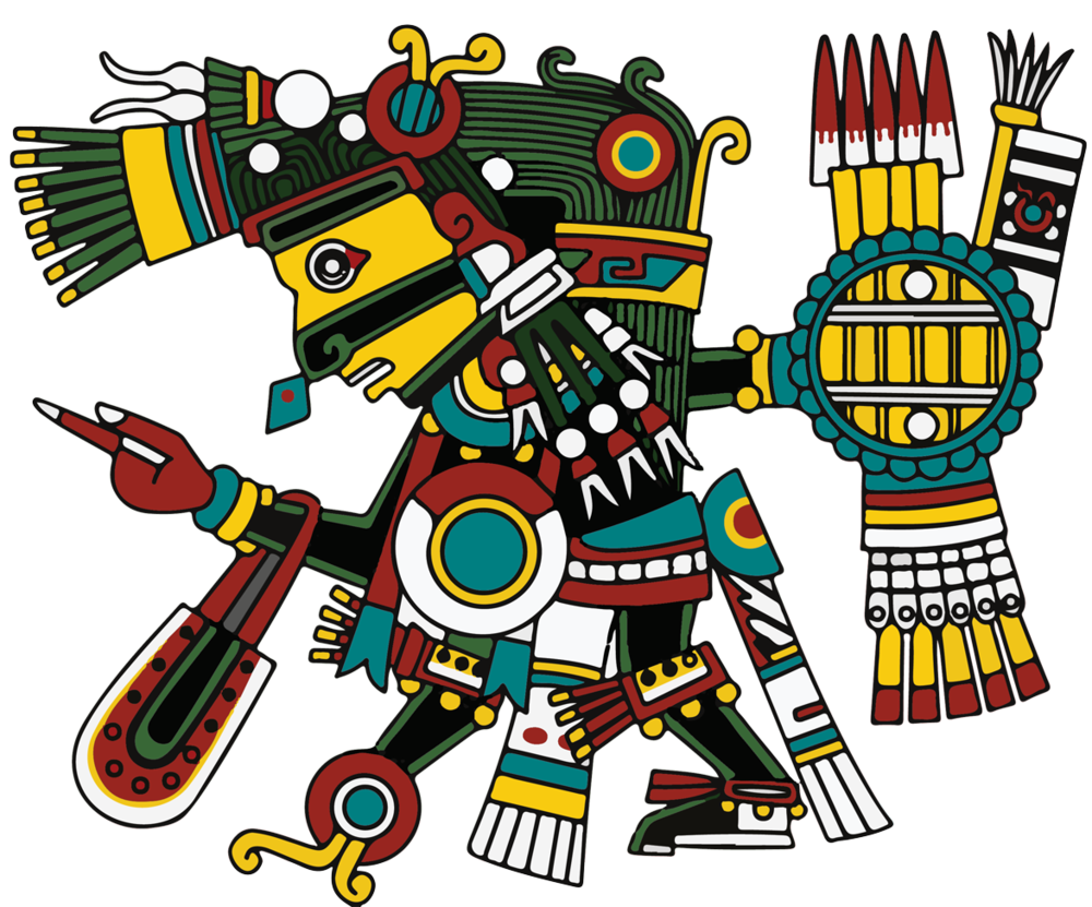 Tezcatlipoca - The symbol of memory, consciousness, reflection, and the spirit word. The resting place of ancestors who have passed. Quietud y reposo (quite peace) The direction of North.