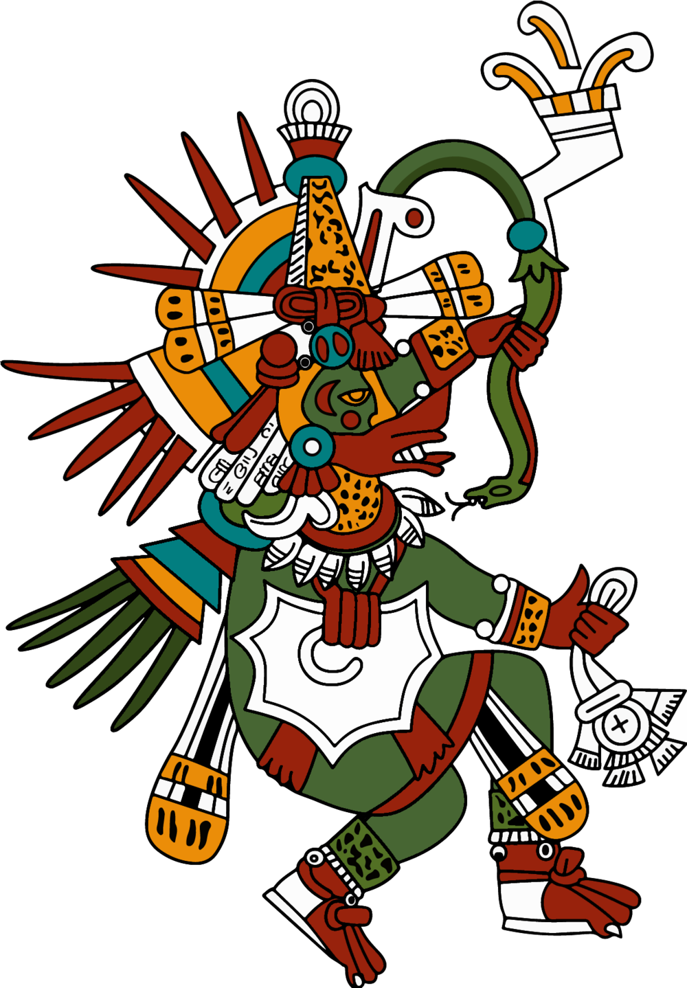 Quetzalcoatl - The symbol of spirituality, precious knowledge, and the Sun. The direction of East.