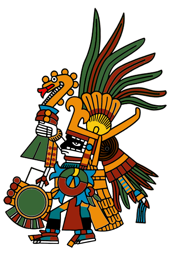 Huitzilopochtli  - The symbol of our Will, The left handed Hummingbird (La Voluntad). Honoring the warriors who died in battle, Winter Solstice. The direction of South.