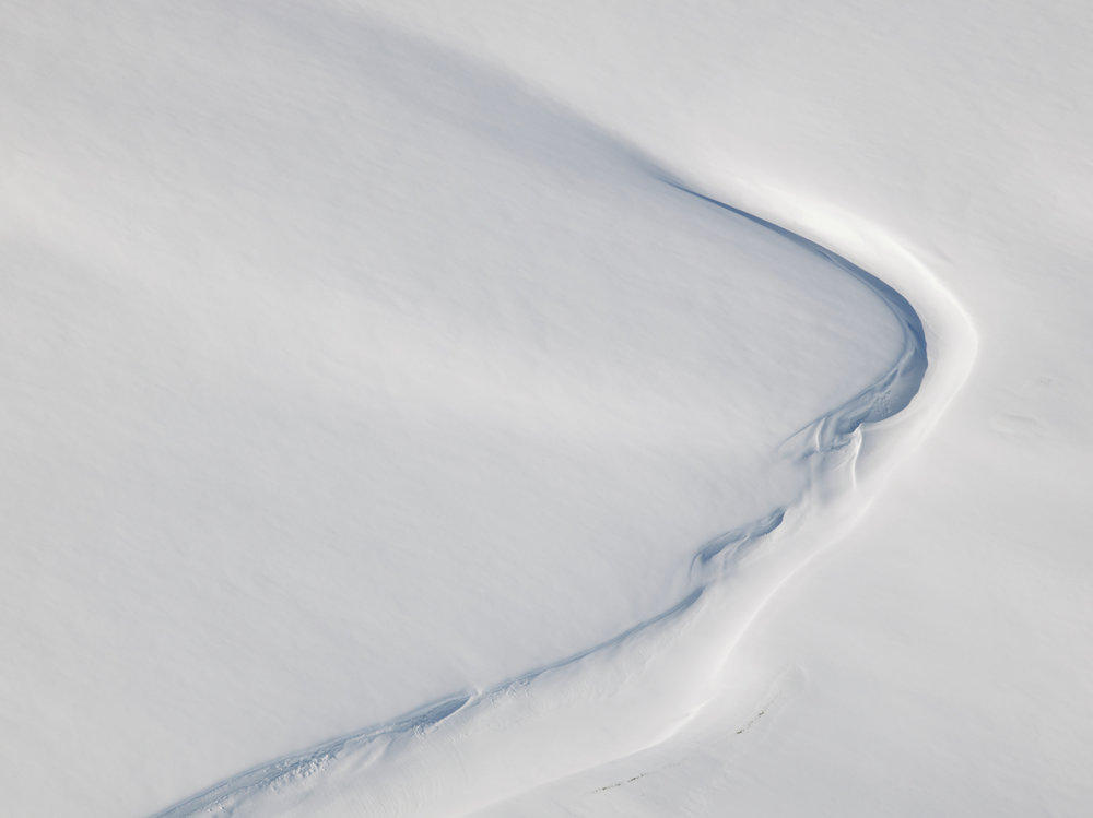 Snow Patterns, Svalbard, Norway