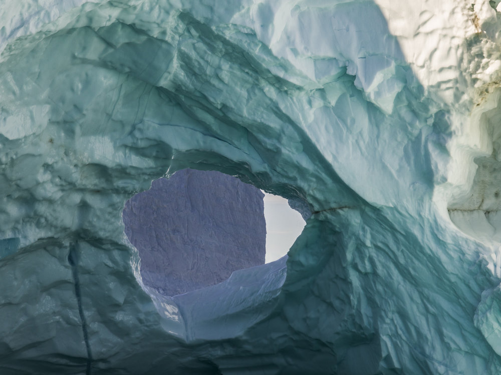 Ultraviolet Shapes, Disko Bay, Greenland