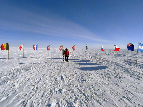 The ceremonial South Pole