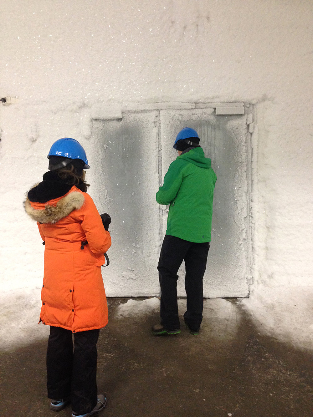Temperatures are kept at -30 degree F in the Svalbard Seed Vault.