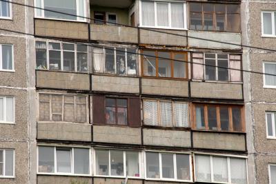 Buildings in Murmansk city