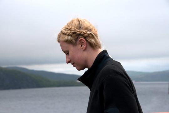 Angela thinking of the Arctic.