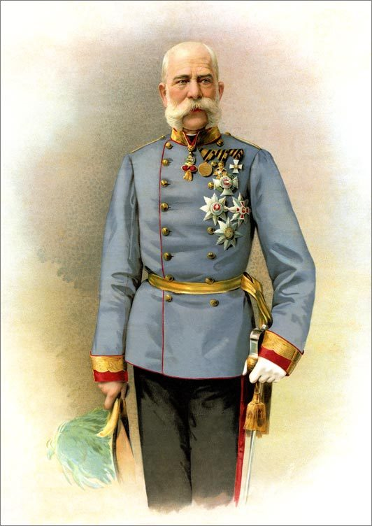 Franz Josef and our route through Franz Josef Land.