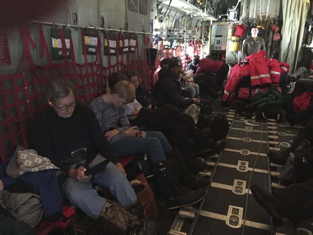 Our group inside the Hercules