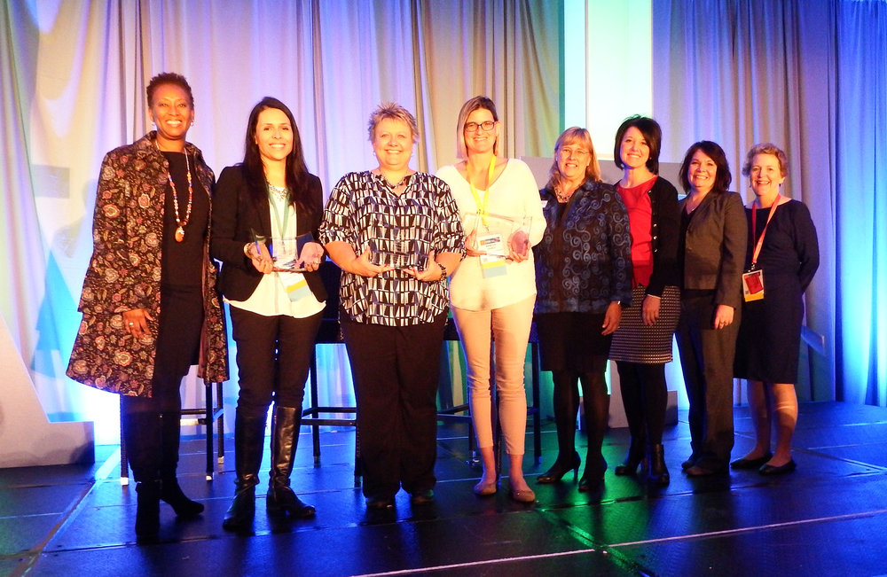 Pictured left to right: Constance Gully,  Aurora Swain, Amy Hoffmann, Amanda Johnson , Patricia Kempthorne, PJ West, Kerry Caverly and Karen Shanoski