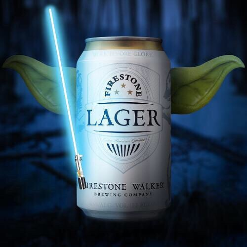 Drink good beer you will. #FirestoneLager #MayTheFourthBeWithYou