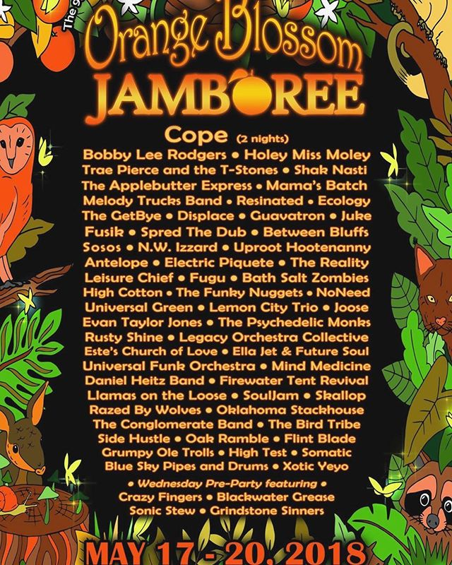 Honored to be returning to @orangeblossomjamboree alongside a ton of friends and Florida-grown talent. • • #obj #displace #floridamusic #jamband #funk #livemusic #tourlife #sertomayouthranch #tampamusic #orangeblossomjamboree #festivals #festilife #ranoutofhashtagideas