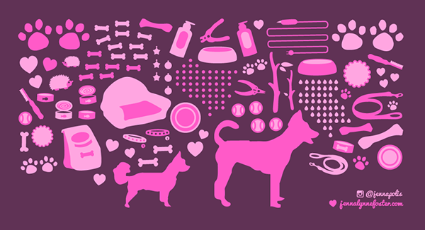 digital concept for Woofgang Bakery mural