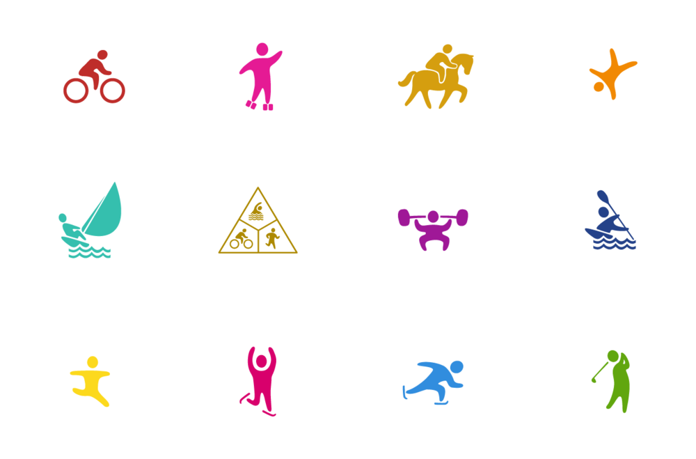 digital icons for Special Olympics Texas