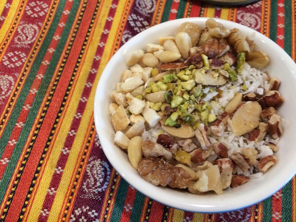 Lebanese meghli (spiced rice pudding) -