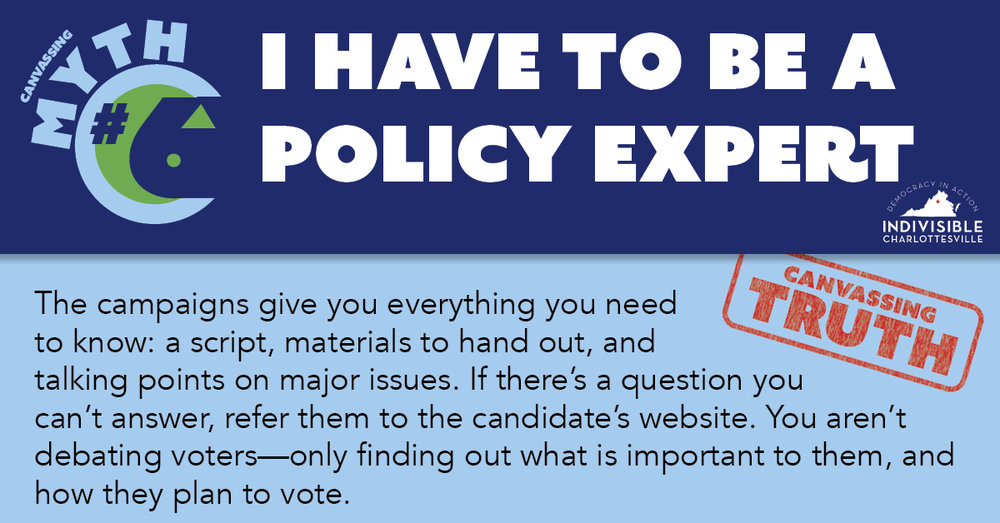 I have to be a policy expert