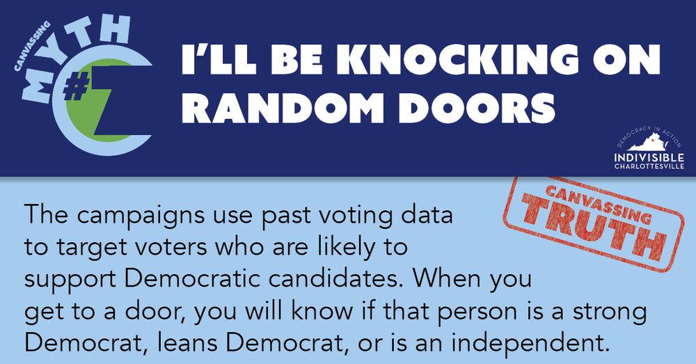 I'll be knocking on random doors