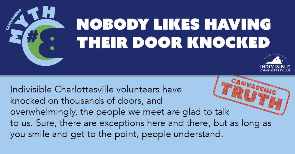 Nobody likes having their door knocked