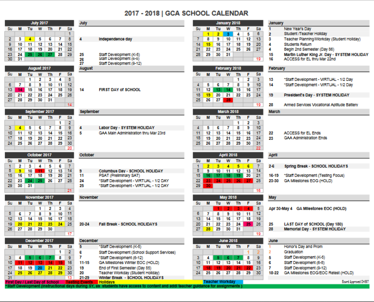 school calendar augusta islamic academy