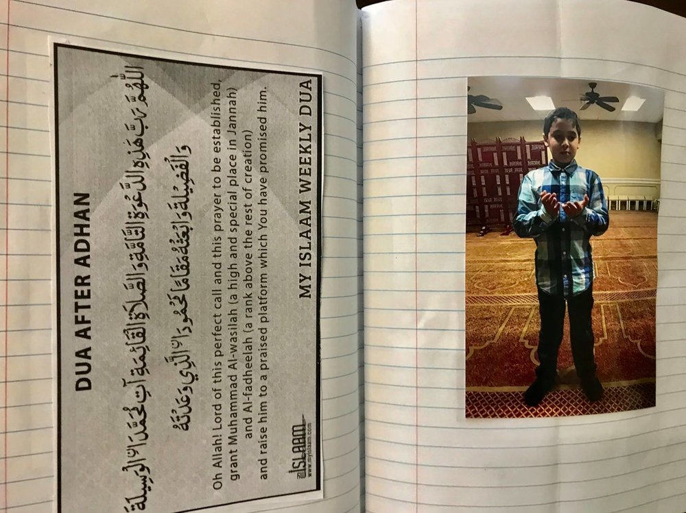 Personalized Salah Books - Students learn how to pray properly.