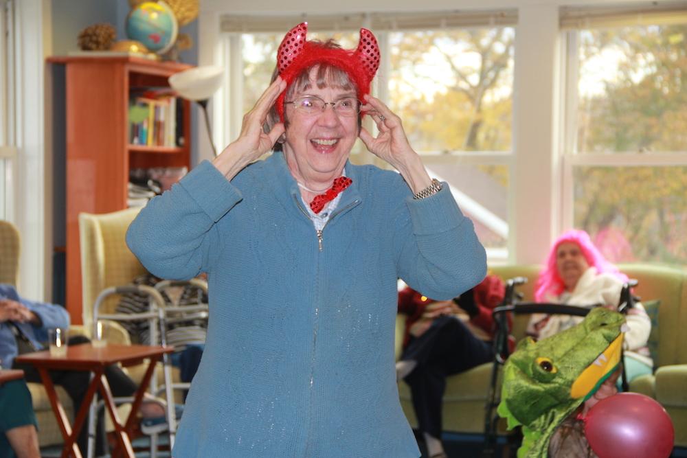 Joy with deveil horns.JPG