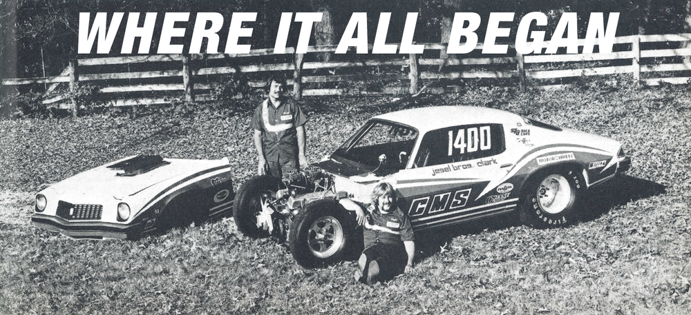 Dan and Wayne Jesel with their Competition Machine Services Camaro in 1974.