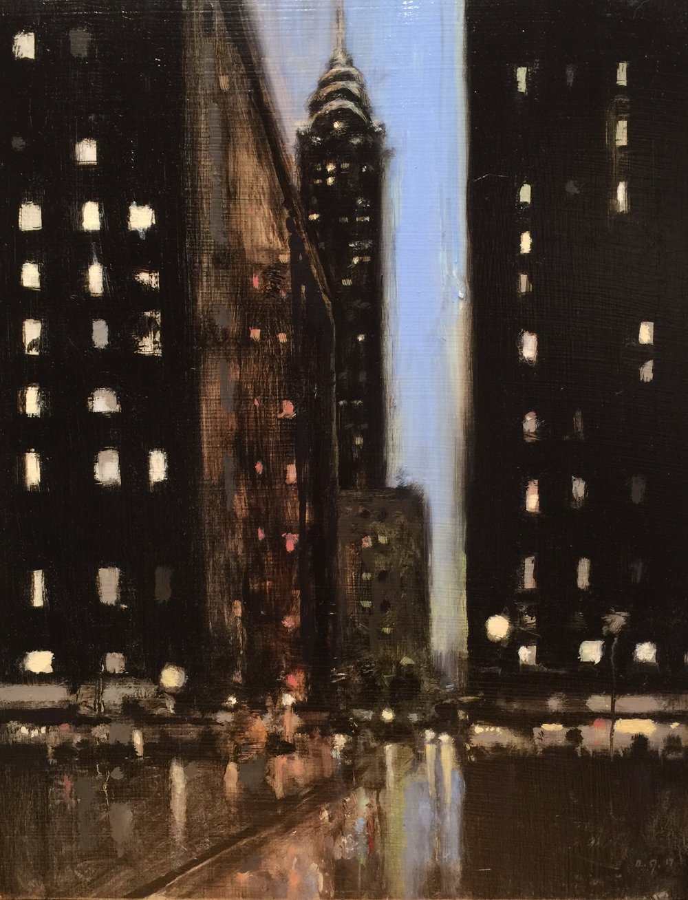 Buildings at Night II, 2017