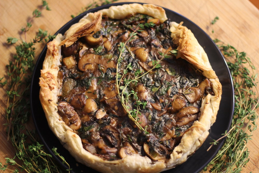 Mushroom, Thyme and Red Wine Pie -