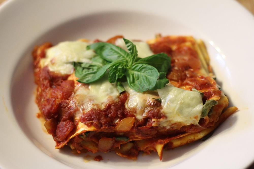Spicy Eggplant Lasagna -