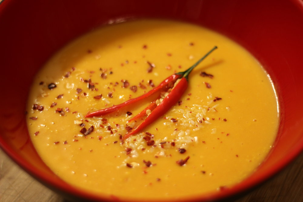 Carrot and Coconut Soup -