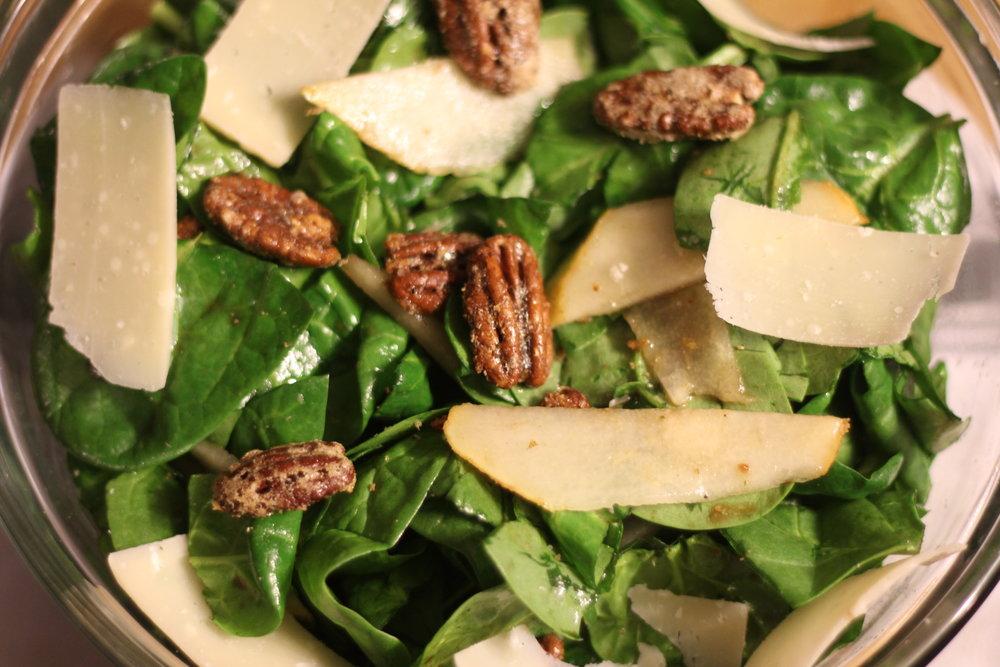 Pear, Pecan and Parmesan Salad -
