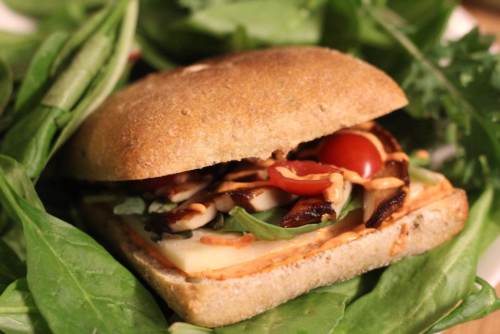 Portobello Mushroom Burger -