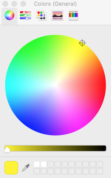 MacOS Color Wheel