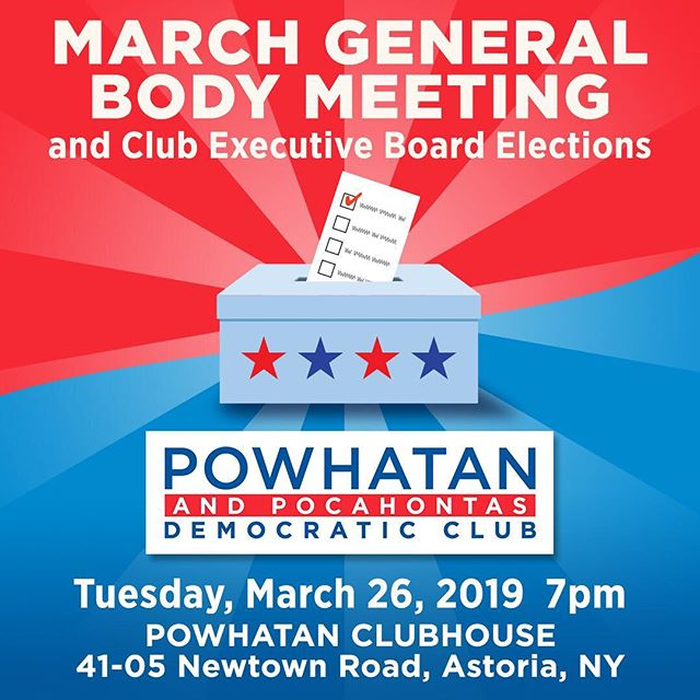 Calling all members! We have Executive Board Elections coming up! The following positions are up for election:  President Executive Vice President Political Vice President Treasurer Community Outreach Secretary Corresponding Secretary Financial Secretary Recording Secretary Female Chair of the Board Male Chair of the Board Building Director  If you plan on running, you have 10 days to submit your candidacy statements (March 15 deadline). If you'd like to vote, please review voting eligibility requirements. The vote is on Tuesday, March 26. #astoria #democrats #election #leaders #getinvolved #vote #democraticclub #queens #newyork #democracy