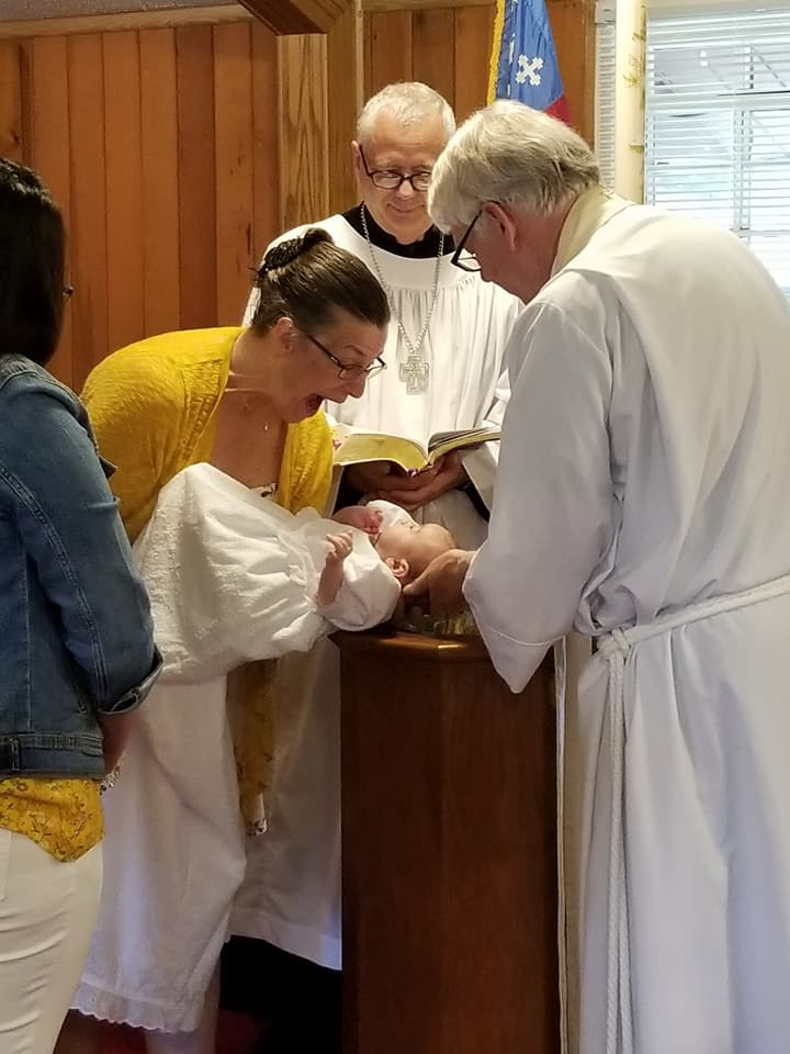 Olive Grace's baptism on Easter Sunday.